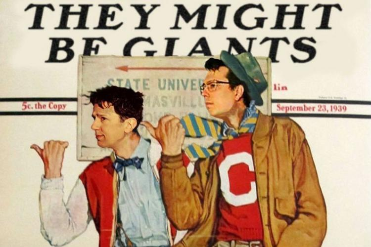 In a recent interview with The Newtown Bee, They Might Be Giants co-founder John Linnell, left, with partner John Flansburgh, said their upcoming College Street Music Hall show April 13 in New Haven will be a fan's delight featuring material from…