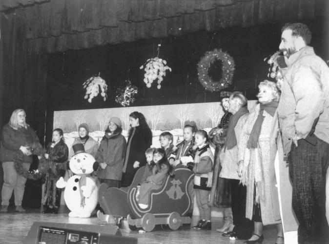 "Printed on the back of this undated photo are the words ""Ashlar,"" and ""Community Players."" Clearly a holiday presentation - any thoughts on who and when?"