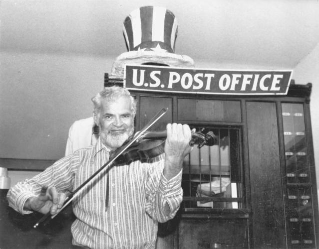 As with many old file photos sitting forgotten in desk drawers, the only clues about this picture are the dates, 1982-84, and a partial name, Fiddler Gilpin, written on the back. -Bee file photo