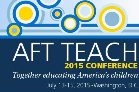 """Newtown Federation of Teachers executive board members attended the American Federation of Teachers conference earlier this month. The NFT leaders were asked to speak with a focus on the conference's theme this year, which was """"Our Voice…"""