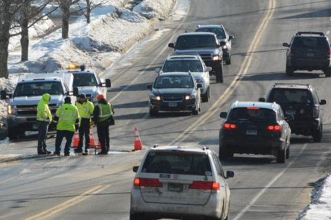 A group of Aquarion Water Company workers responded to a water line break, which was reported to police at about 7 am on Wednesday, February 25, on Church Hill Road, just east of its intersection with Wendover Road. The situation resulted in traffic…
