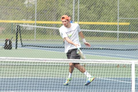 Top singles player Cam McCleary and the Nighthawks defeated Joel Barlow in the SWC tourney semifinals to advance to face Weston in the pinnacle match.