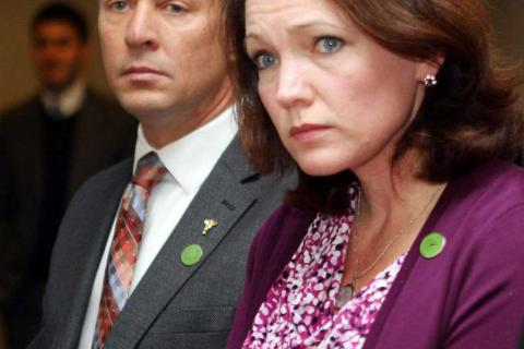 Neither Mark Barden nor Nicole Hockley, who both lost children on 12/14 - and who went on to co-found Sandy Hook Promise, will e seeking election to the 5th US Congressional District seat this fall, it was announced late last week. (AP photo)