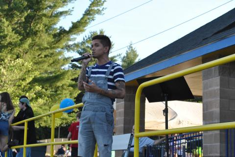Singer Gregori Lukas performed during the June 13 Relay For Life event.