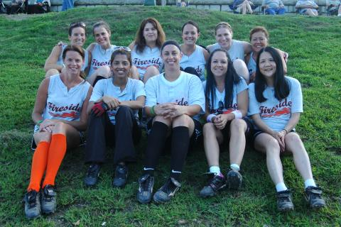 The Fireside softball team edged Black Swan to earn the championship for the fourth straight season.