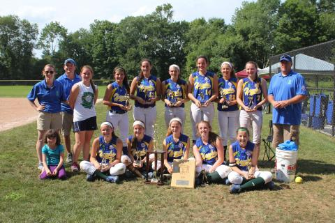 The Newtown Hawks Green softball team captured the U14 Babe Ruth championship.