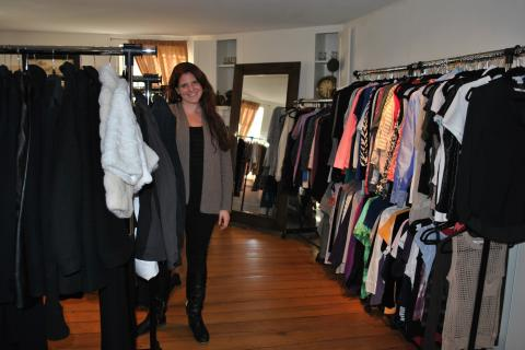 Christine Ruzek opened Labels Plus Tags, a fashion resale outlet, at 10 Glen Road in Sandy Hook, on October 26.
