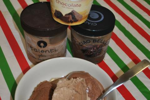 A recent sampling by Newtown Bee staff of eight frozen chocolate desserts, available in local markets, found Haagen-Dazs ice cream to be top dog for flavor, density, and creaminess. Talenti double chocolate gelato and dark chocolate sorbetto by Ciao…
