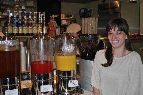 Laura Maynard is general manager at The Village Perk Cafe, which opened May 10 in Sandy Hook Center.