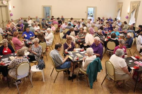 Every table in the Alexandria Room was filled for the morning session of June 21, when Newtown Bridge Club participated in the American Contract Bridge League's annual Longest Day Event. Held on the summer solstice, ACBL says The Longest Day…