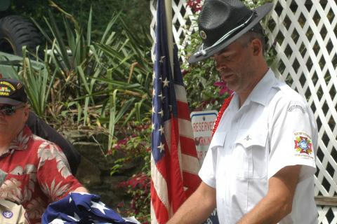 VFW Post 308 Men's Auxiliary President Robert Arnold spoke at a flag retirement ceremony at the post on Flag Day 2014. The post is planning a similar ceremony for this year, and is inviting residents to drop off flags that should be retired at a…