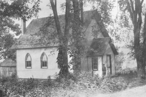 The Hawleyville Chapel, shown in this circa 1910 photograph, was erected in 1897 by residents who desired a nondenominational chapel, and located just north of the Upham Tearoom (now Big Buddha Cigar Lounge). Dedicated in 1897, the last service held…