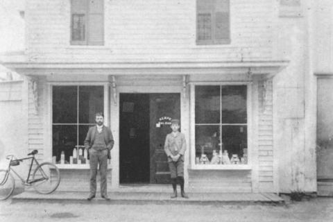 Still standing on Church Hill Road in Sandy Hook Center, is this building (now Porco's Karate Studio) that was Betts and Betts Drugstore the early part of the 20th Century. The store, pictured here circa 1905, was operated by Ralph Betts Sr…