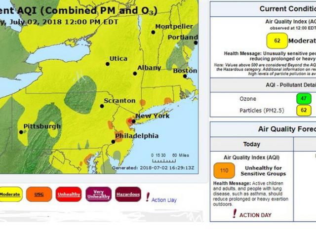 Heat wave raises ozone level   Hudson Valley 360