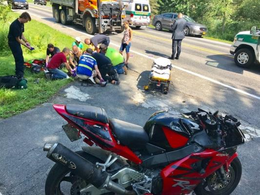 motorcycle crash pictures  Man airlifted after motorcycle crash in Claverack | Hudson Valley 360