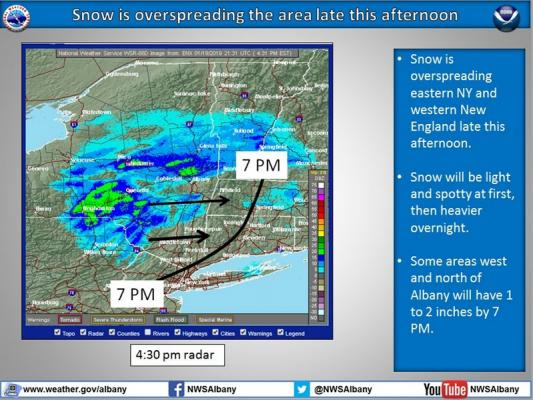 Heaviest snow expected to fall overnight | Hudson Valley 360