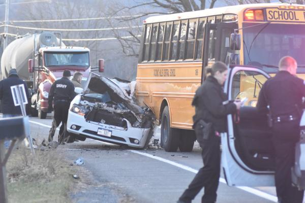 Taconic Hills school bus rear-ended | Hudson Valley 360