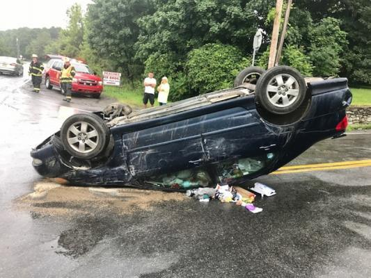 Car driven by pregnant woman flips over | Hudson Valley 360