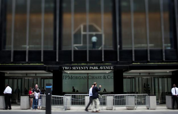 Scott Eells  Bloomberg                  Pedestrians pass the JP Morgan Chase & Co. headquarters in New Yor