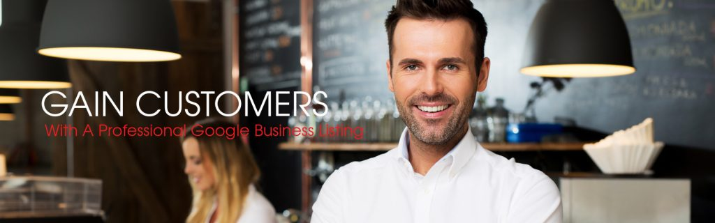 Happy business owners using Google My Business.