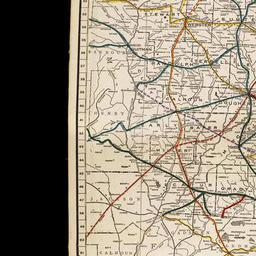 Railroad Map Of Georgia.Railroad Map Of Georgia 1916 The Newberry