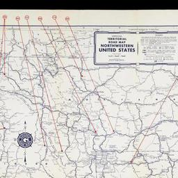 Official Territorial Road Map Northwestern United States The - Northwestern us map