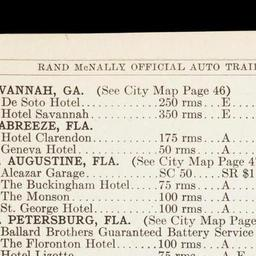 Rand Mcnally Official 1922 Auto Trails Map District No 21 State Of Florida The Newberry