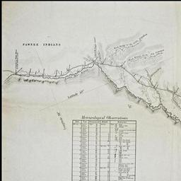Oregon Trail On Us Map.Topographical Map Of The Road From Missouri To Oregon Commencing At