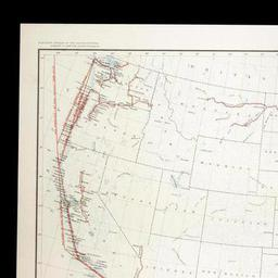 Water Transportation Routes United States 1894