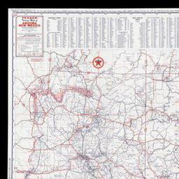 Road Map Of Arizona And New Mexico.Texaco Touring Map Of Arizona New Mexico The Newberry