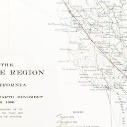 Map Of The Coast Range Region Of Middle California Showing The Distribution Of Earth Movement On April 18 1906 As Revealed By The Displacement Of The Triangulation Stations Of The Coast