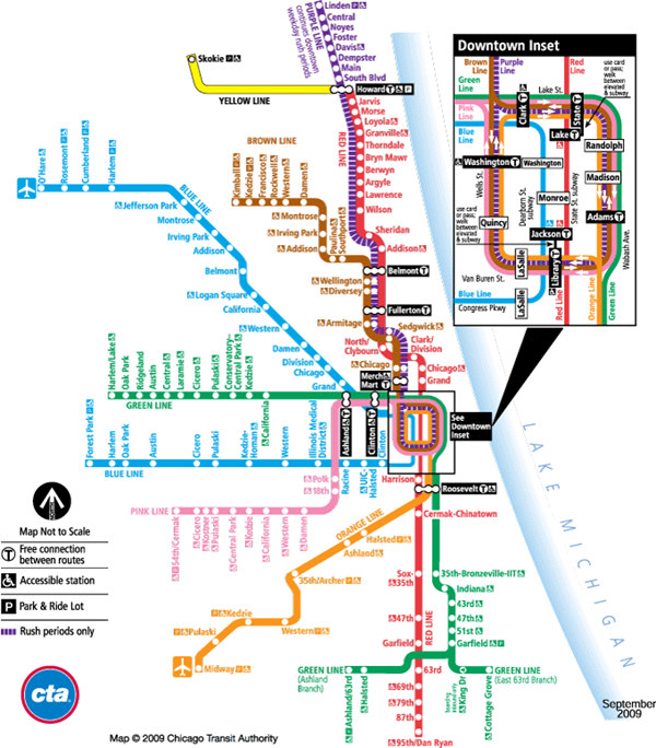 Things You Should Never Say In Chicago - Chicago brown line map