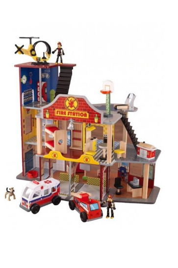 NEW! KIDKRAFT DELUXE FIRE & RESCUE PLAY SET - BRAND NEW SEALED IN BOX!!!!!