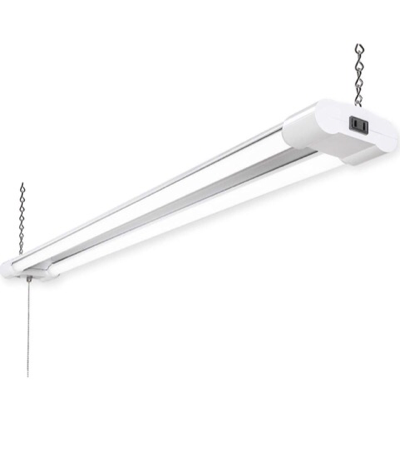 """8 LED 48"""" Shop Lights For Garages, Work Areas And Small Warehouses 3570 Lumen / 5000K CCT White, 40W With Hanging Chain"""