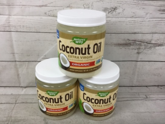 Nature's Way Organic Extra Virgin Coconut Oil 3 X 32 Oz Jars 07/2020