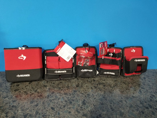 New Lot Of 5 Husky Tool Organizing Pouches