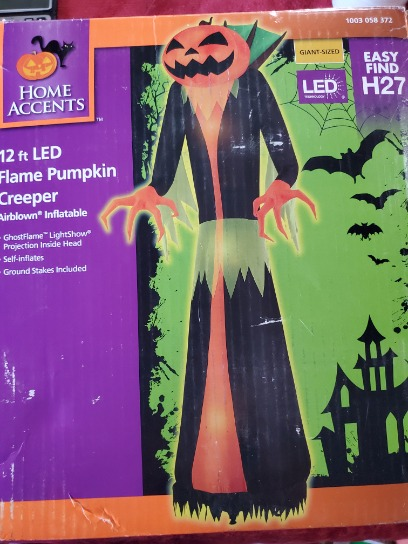 12ft Led Flame Pumpkin Creeper Airblown Inflatable