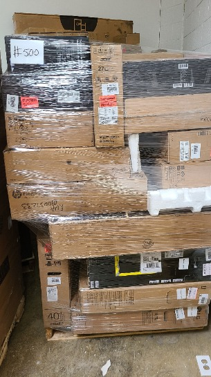 Pallet Of 26  Salvage Tv's And Monitors (500)