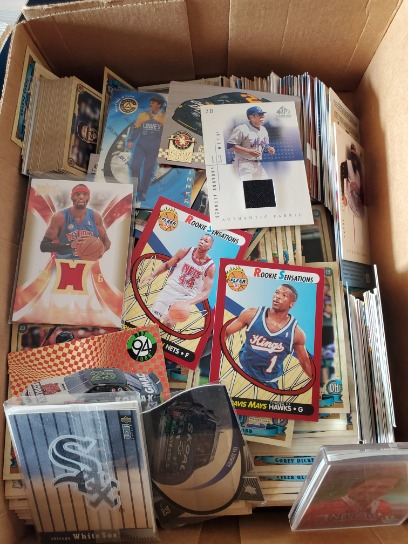 2 Shoe Boxes Full Of Great Basketball,baseball,nascar,and Maybe More Cards And Backets 100s Of Cards Unsearched