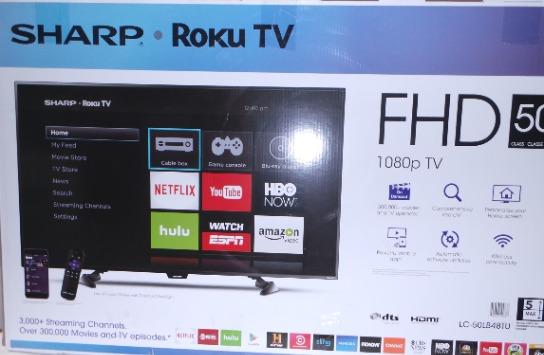 SHARP ROKU TV LC-50LB481U