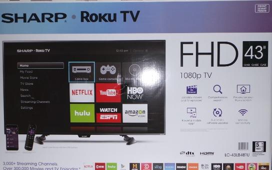 SHARP ROKU TV LC-43LB481U