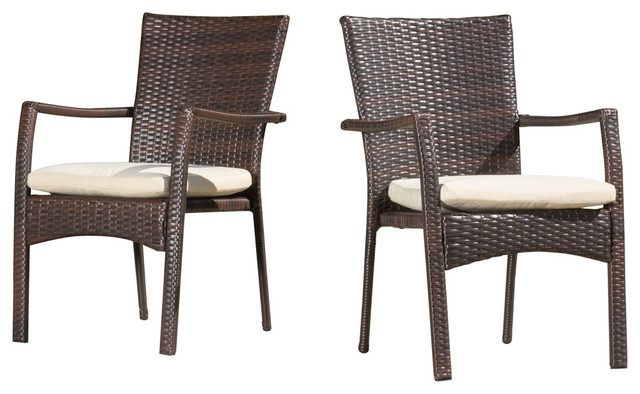 AAF06000F01-2 Set Of 2 Outdoor Dining Chairs With Cushions