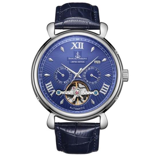 Samuel Joseph Automatic Steel Blue Watch