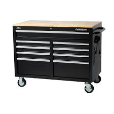 Husky 1002811059 extra deep 9 drawer mobile work bench  size 46''