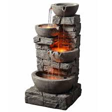 Peaktop Group 201601PT Tiering Bowls Fountain With Led Light