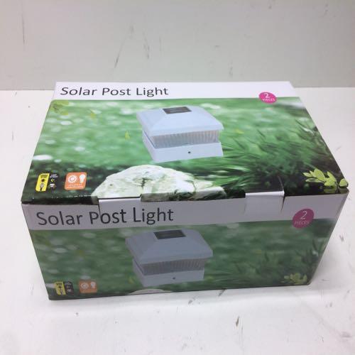 2 Pc Solar Post Light