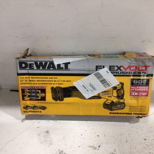 Dewalt DCS388T2 Reciprocating Saw Kit