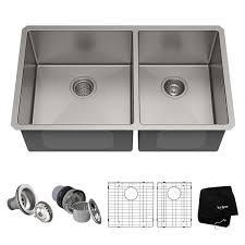 Kraus KHU103-33 Double Sink
