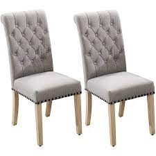Per Home PH30-2-CHAIRS-GRAY Dining Chair