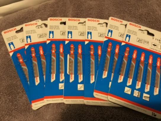7 PACKS BOSCH JIGSAW BLADES FOR METALS T118B 5 IN EACH PACK (35 TOTAL BLADES)